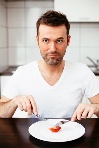 eating disorder man food