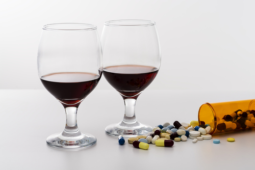 adderall pills alcohol drink