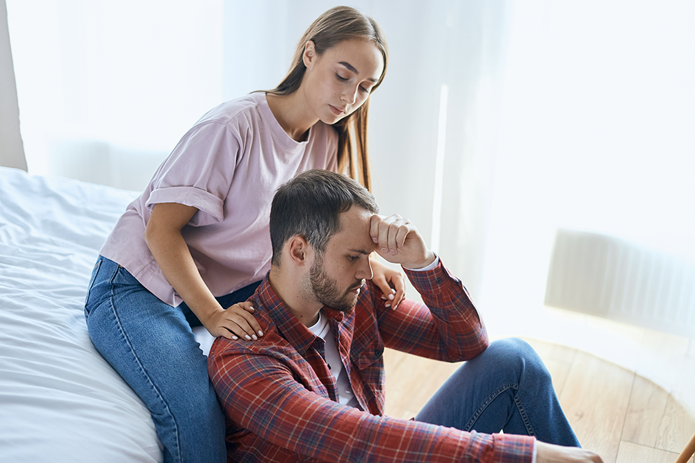 comforting a loved one with addiction